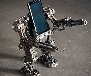 Mech Warrior Phone Stand