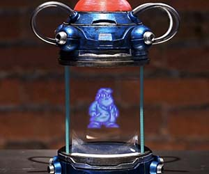 Mega Man Light Capsule Hologram