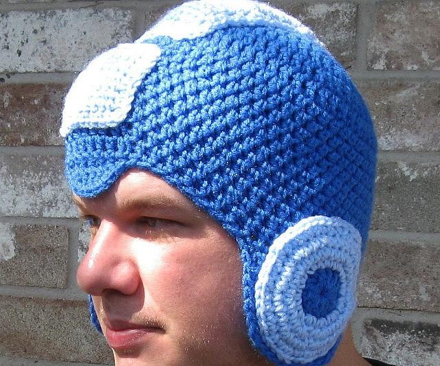 d717a335f74 Mega Man Crochet Beanie
