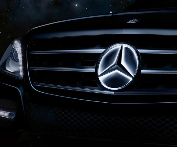 Mercedes benz illuminated star for Mercedes benz star logo