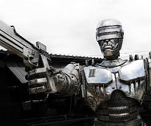 Metal RoboCop Statue