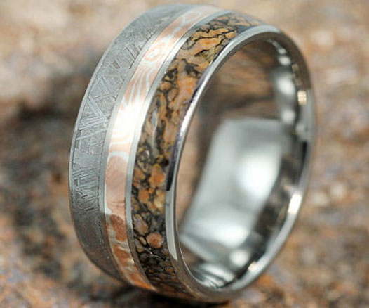made from meteorite gold meteor bone and ring this rings is r comments hfnwmxo wedding pics dinosaur a