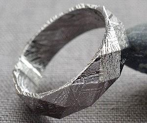 Turquoise Inlay Wedding Band 99 Nice Meteorite Ring