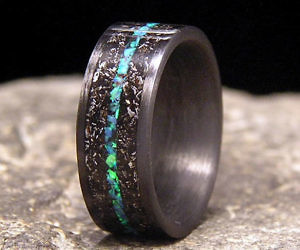 meteorite shavings wedding ring - Meteorite Wedding Ring