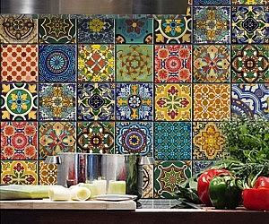Perfect Mexican Talavera Tile Decal