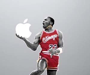 Michael Jordan MacBook Sticker