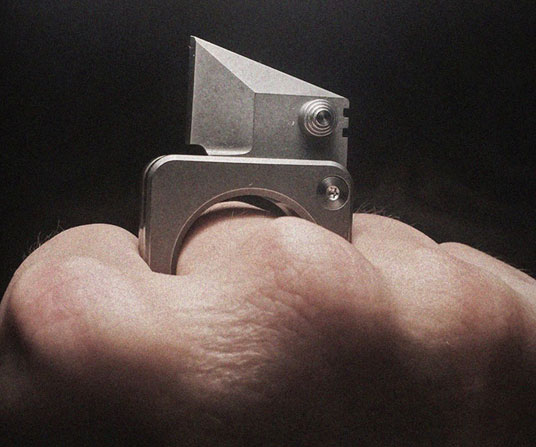 Self Defense Micro Knife Ring