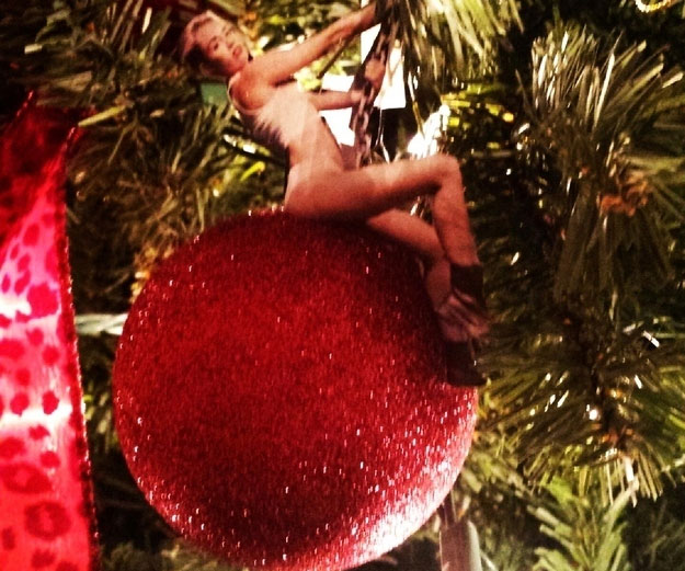 Miley Cyrus Wrecking Ball Christmas Ornament.Miley Cyrus Wrecking Ball Ornament