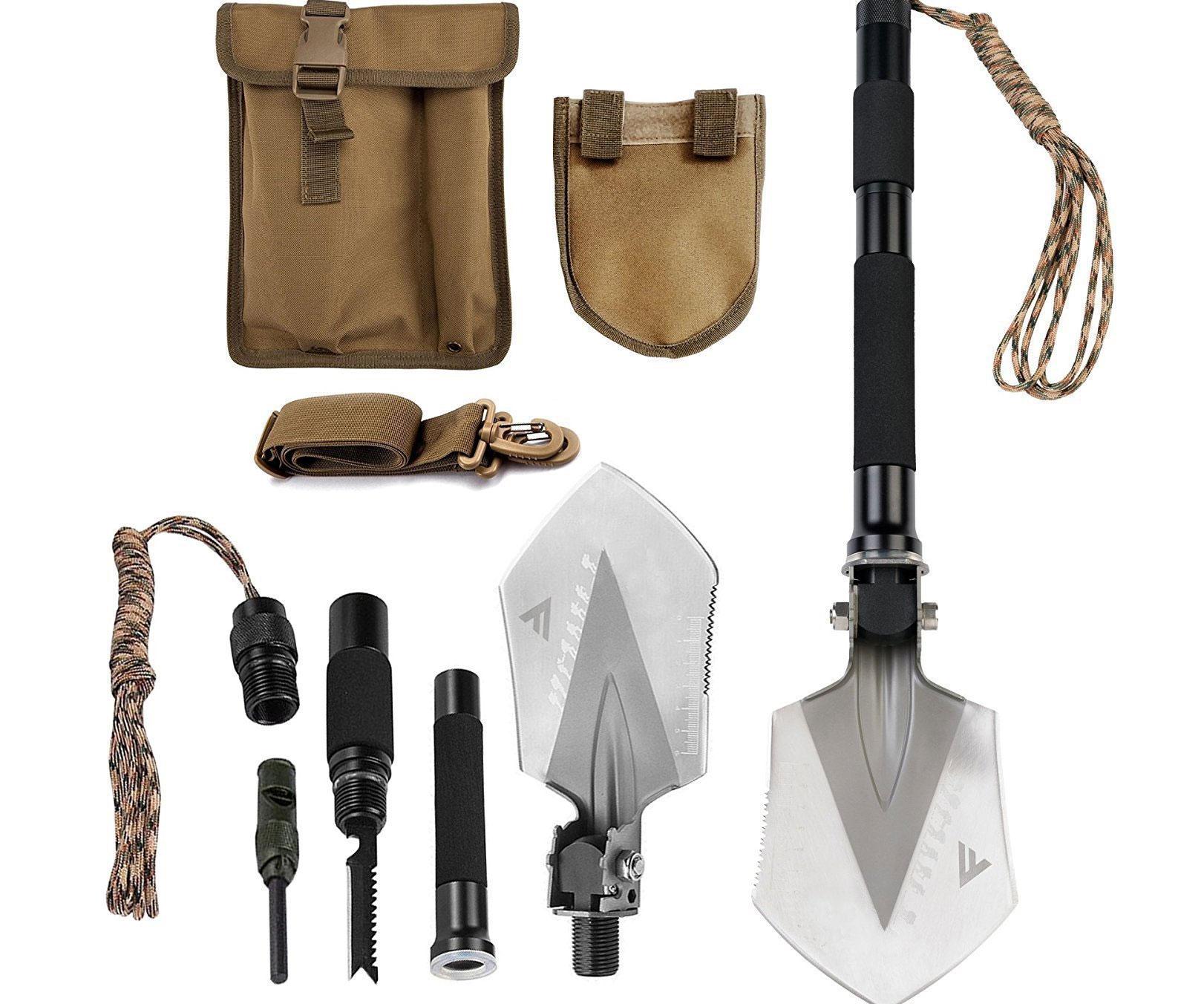 Military Folding Shovel Multi-Tool Kit