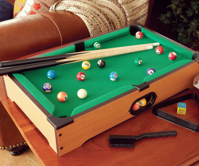 Just Like With Mini Golf, We Are Witnessing The Birth Of A New Sport: Mini  Pool. This Fun Little Mini Pool Table Not Only Looks Cool, But Is A  Completely ...