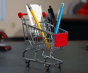 Mini Ping Cart Desk Organizer