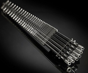 Minimalistic Titanium Electric Guitar