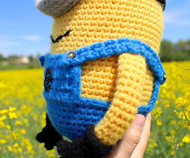 Amazon.com: Minion amigurumi toy,Crochet Minion ,Despicable Me ... | 533x640