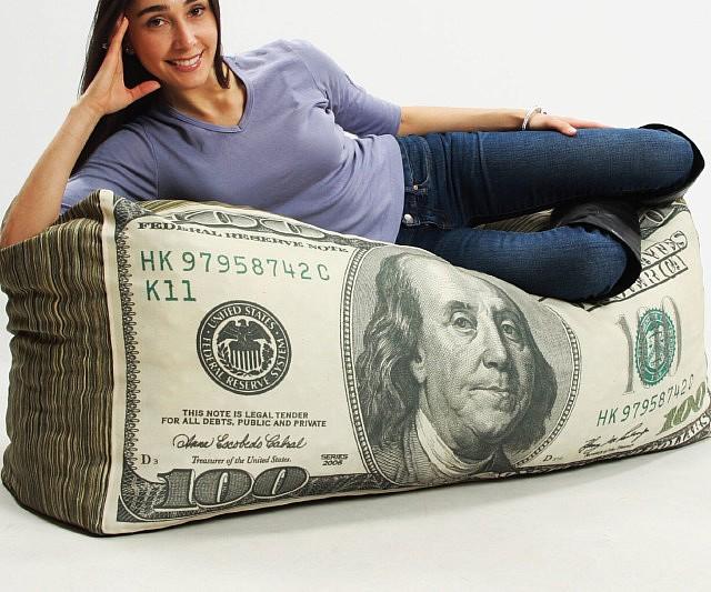 Hundred Dollar Bills Bean Bag