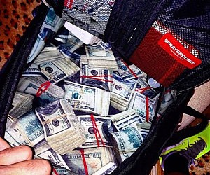 Money Stash Lined Backpack