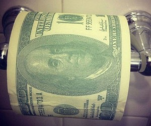 Hundred Dollar Bill Toilet Paper