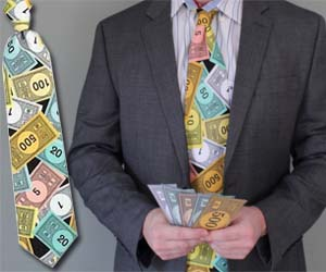 Monopoly Money Tie