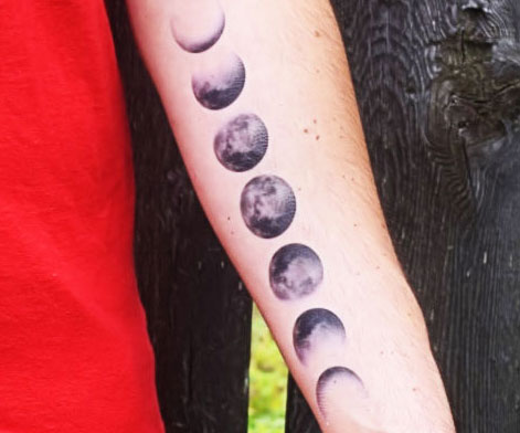 5f8585123 Moon Phases Temporary Tattoo