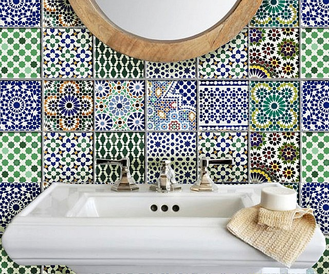 Elegant Moroccan Tile Wall Decal