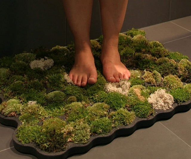 Marvelous Moss Bathroom Mat