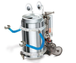 Motorized Tin Can Robot Kit