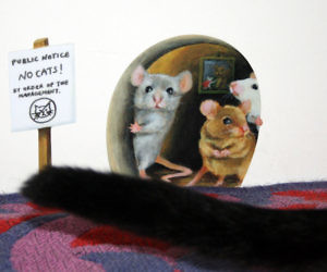 Epic Scaredy Mice Mousehole Wall Sticker