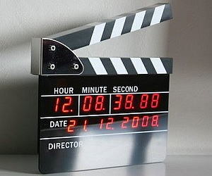 Movie Slate Digital Alarm Clock