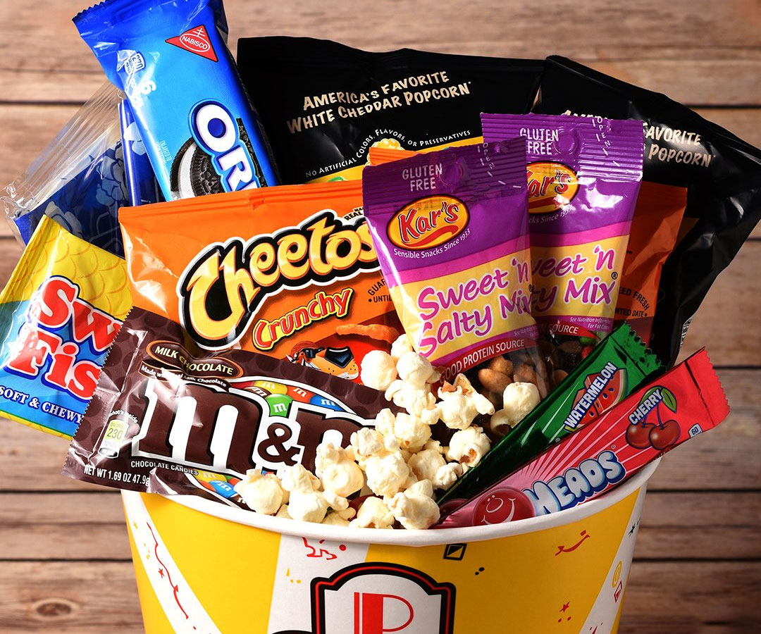 Movie Night Candy Buckets