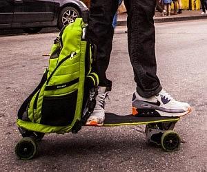 Unfolding Backpack Electric Skateboard