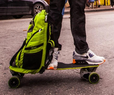 Unfolding Backpack Electric Skateboard