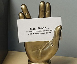 Mr. Spock Business Card Holder
