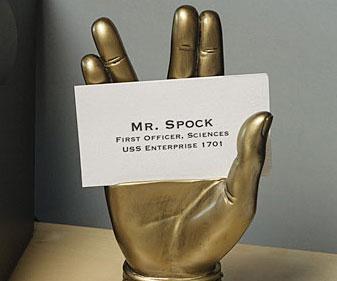 Mr spock business card holder colourmoves