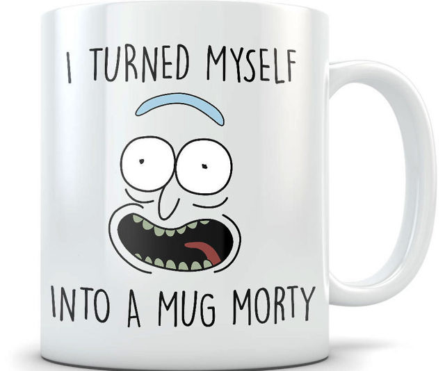 Rick And Morty Official Shoneys Mug With 3D Butt Shaped Cover Novelty Summer