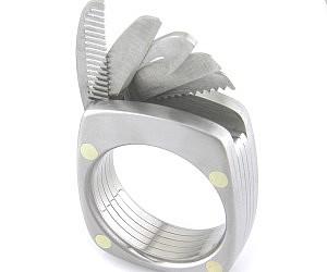 Mens Meteorite Wedding Band 42 Ideal Multi Tool Utility Ring