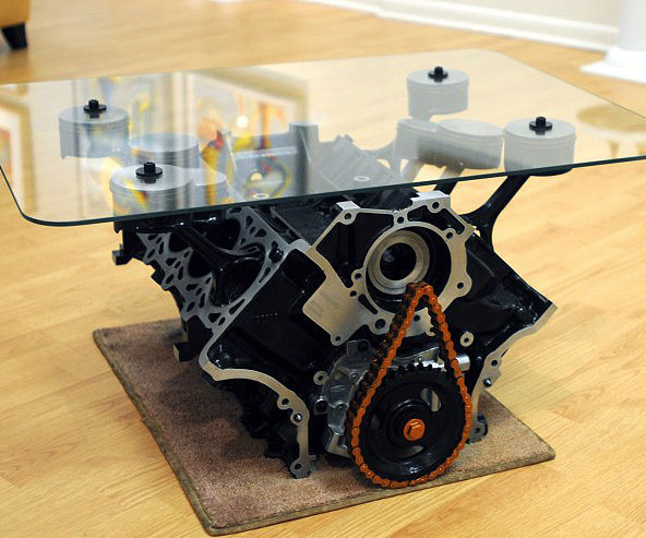 Mustang Engine Block Coffee Table - Engine Block Coffee Table