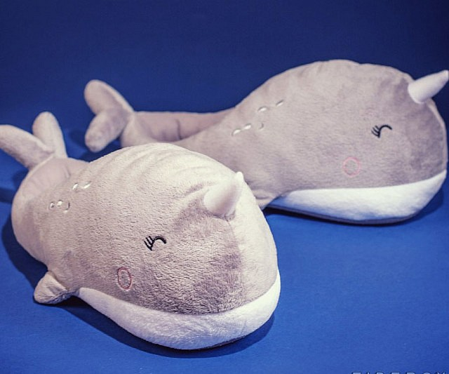 79018c217 Narwhal Heated Slippers
