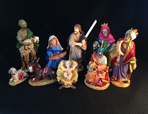 Zombie Christmas Nativity Scene