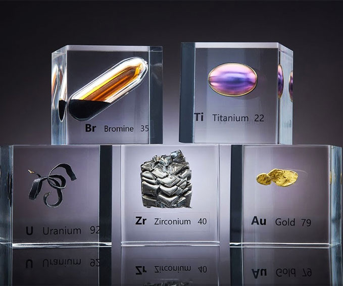 Natural Earth Elements Acrylic Cubes