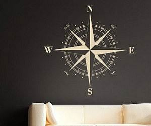 Ideal Nautical Compass Wall Decal
