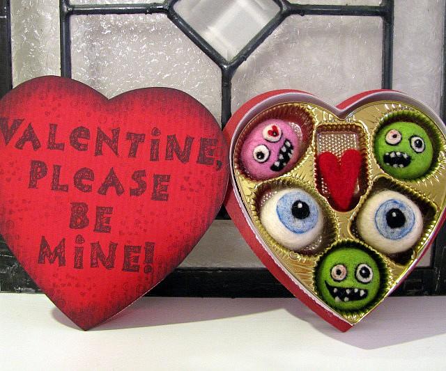 Zombie Valentineu0027s Day Felt Candy