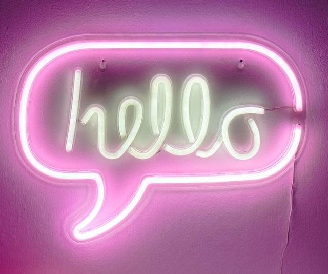 Download wallpaper 1280x800 hello, inscription, neon
