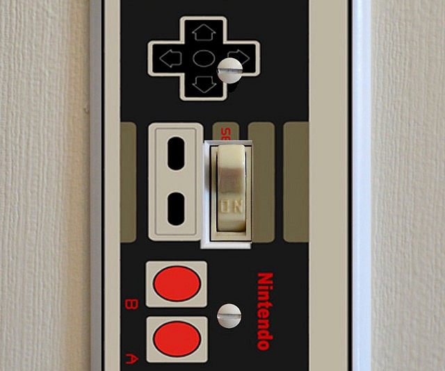 unique light switch plates unusual nes controller light switch plate