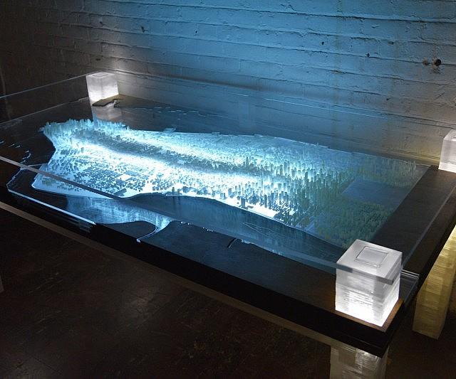 Glowing New York City Desk