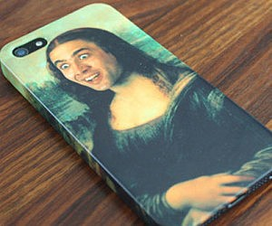 Nicolas Cage Mona Lisa iPhone Case