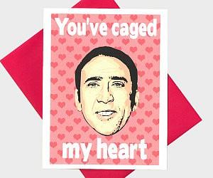 Nicolas Cage Valentine's Card