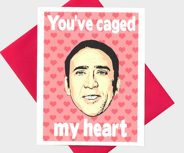 Schön Nicolas Cage Valentineu0027s Card