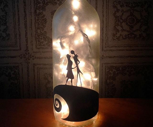 nightmare before christmas bottle lamp - Nightmare Before Christmas Lights