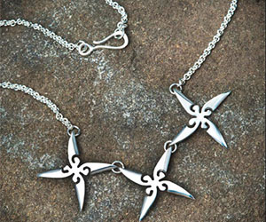 Ninja Throwing Stars Necklace