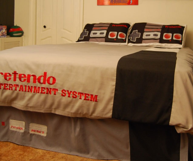 Elegant Retro Nintendo Bed Set