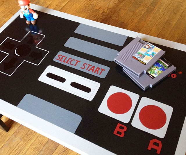Spectacular NES Controller Coffee Table